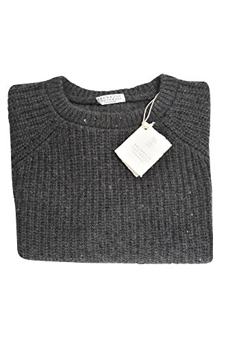 L Cachemira Casual Mujer Ancho Cucinelli Suéter Brunello It Gris Yw0qAzXU