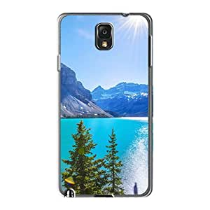Cute Tpu Abrahamcc Mountains Lake And Sun Case Cover For Galaxy Note3