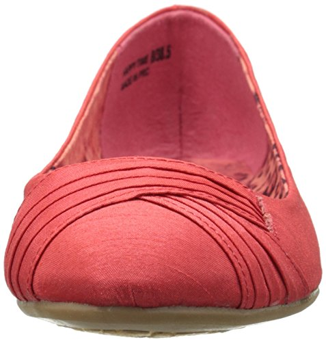 Time Happy Coral Chinese by Women's CL Organza Laundry Flat Ballet 4qX1wn7n