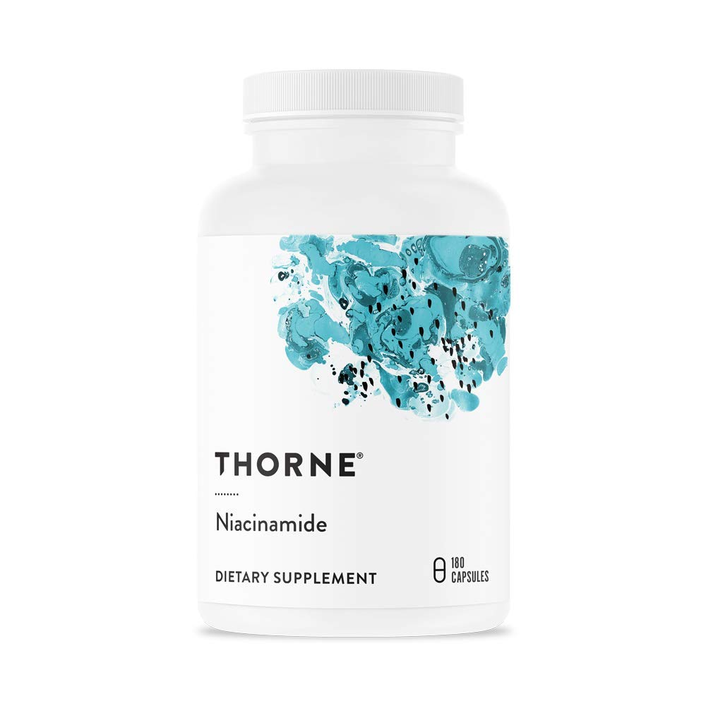 Thorne Research – Niacinamide – Vitamin B3 Nicotinamide Niacin Supplement – 180 Capsules