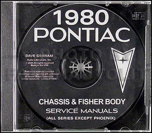 1980 Pontiac Repair Shop Manual And Body Manual On Cd Rom Gm Pontiac Bonneville Lemans Firebird Trans Am Grand Prix Sunbird Grand Am Gm Pontiac Bonneville Lemans Firebird Trans Am Grand Prix Sunbird
