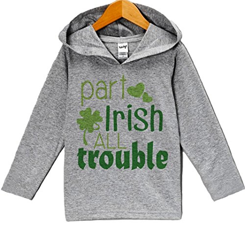 [Custom Party Shop Boy's St. Patricks Day Hoodie Pullover 24 Months Grey and Green] (Toddler Boy St Patricks Day Outfit)
