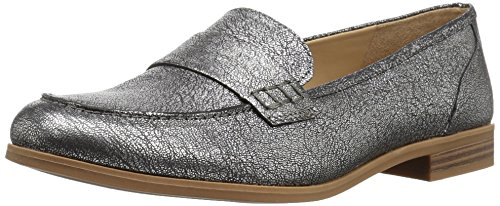 Naturalizer Womens Veronica Slip On Loafer  Silver  11 M Us