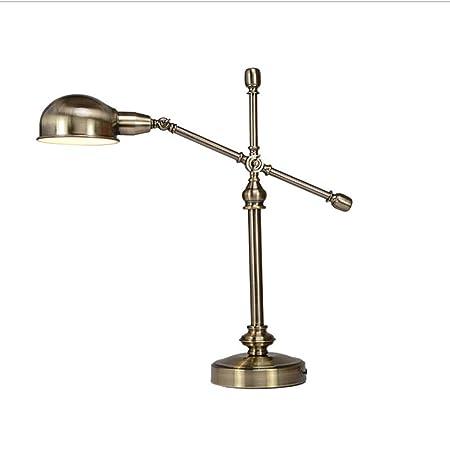 LCTCTD Lámpara de Mesa Vintage E27 Luz de Escritorio Ajustable ...