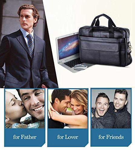 8358a111f6f1 VIDENG POLO M278 Men s Classic Top Cow Genuine Leather Business Handbag  Briefcase Shoulder Messenger Satchel Bag