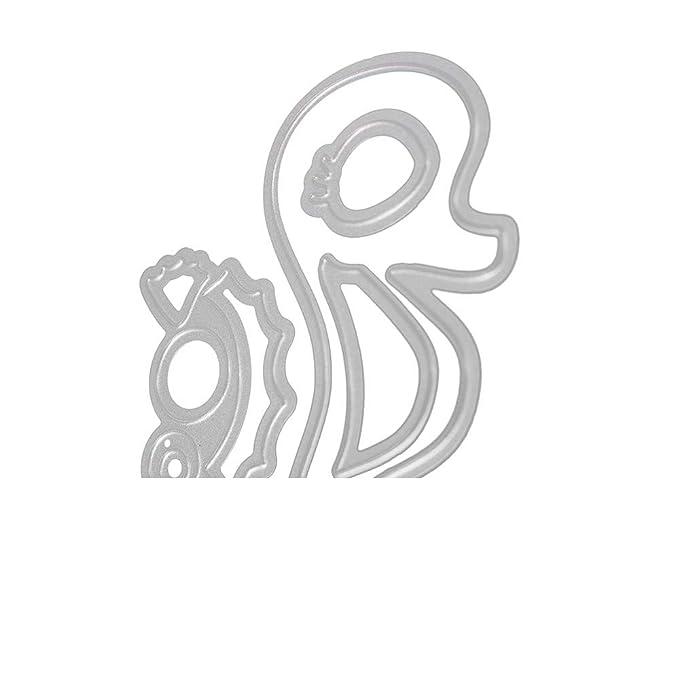 DIPOLA Troqueles de Big Shark Scrapbooking Animados Marianos de la Plantillas de Troqueles de Corte de Metal DIY Álbum Tarjeta Álbum,Sobre y Carta: ...