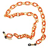 L. Erickson Sarafine Metal Link Eyeglass Chain - Orange/Gold