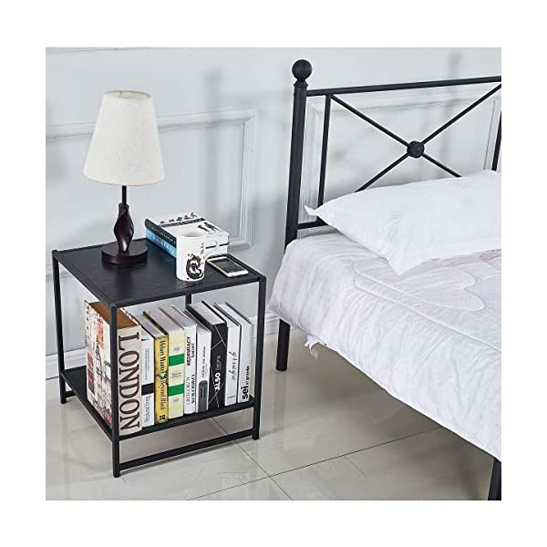Queen Bed Frame, Platform Metal Bed Frame Foundation Queen Size with Headboard and Footboard 5
