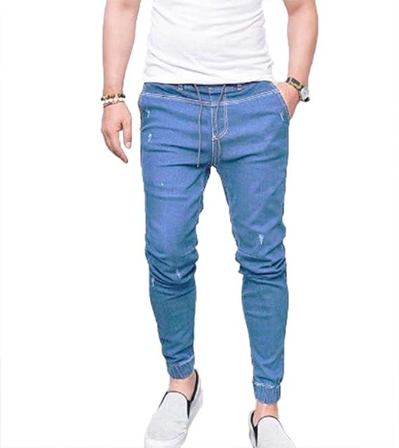 Domorebest Jeans varoniles, Pantalones Vaqueros Ajustados ...