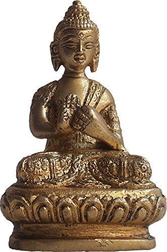 KVR Brass Gautama Siddaratha medicine meditating blessing Buddha religious auspicious statue (Buddha-26) by KVR
