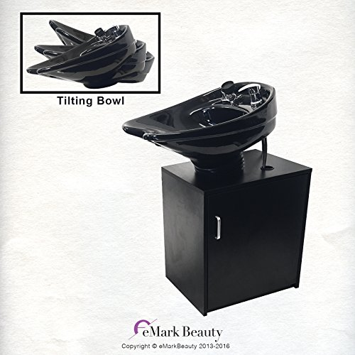Ceramic Beauty Salon Backwash Shampoo Bowl Salon Sink With