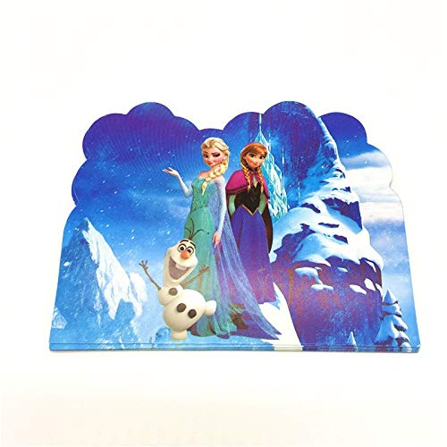 (Best Quality - Cards & Invitations - Hot Disney Cartoon Frozen 10pcs/Lot Mini Greeting Card Disney Elsa Theme Thank You Card Single-Page Type Event Party Supplies - by SeedWorld -)