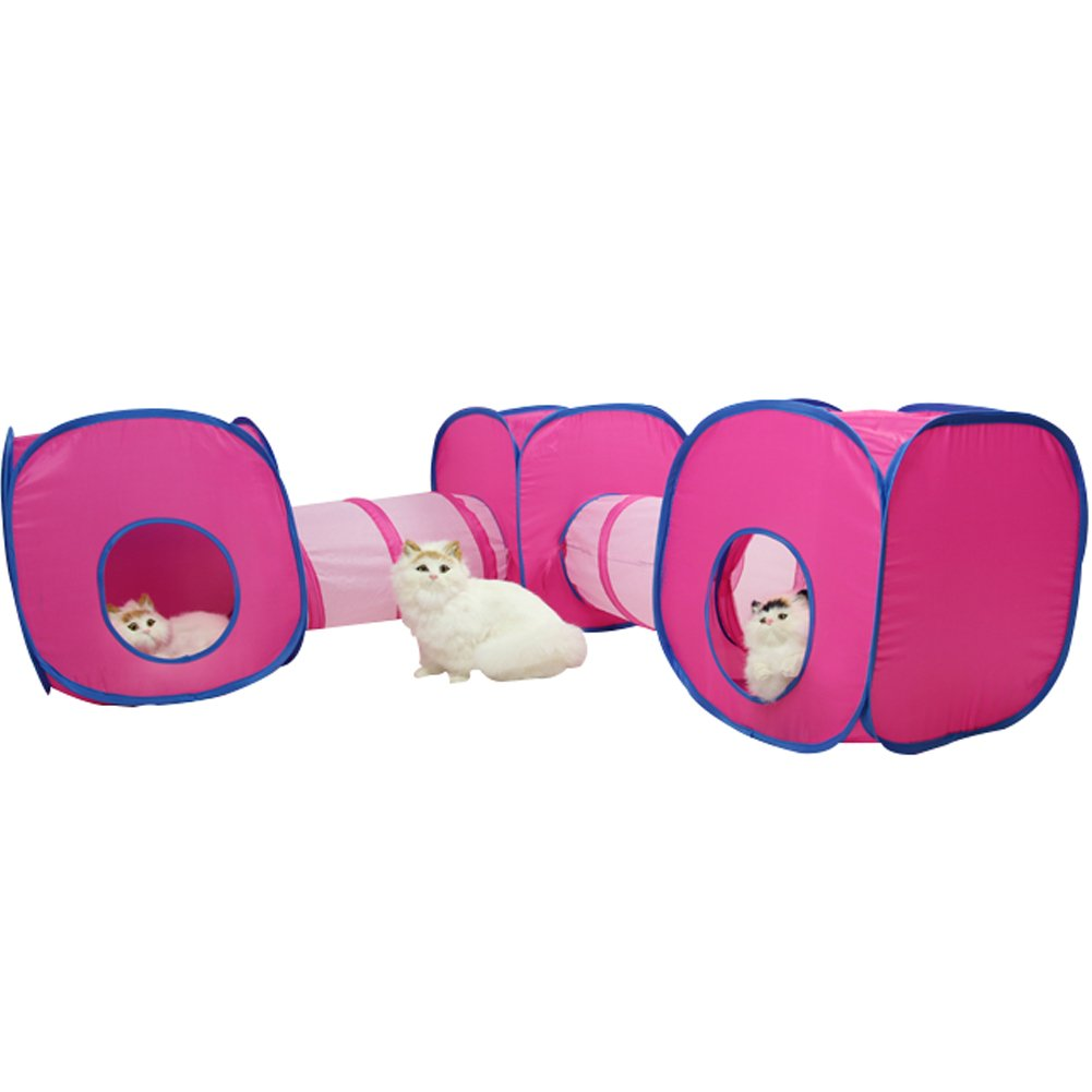 (3Cube+2Tunnel) Creation Core Funny Collapsible Kitty Cats Small Pets Various Combinations Tunnel Cube Cat Toy