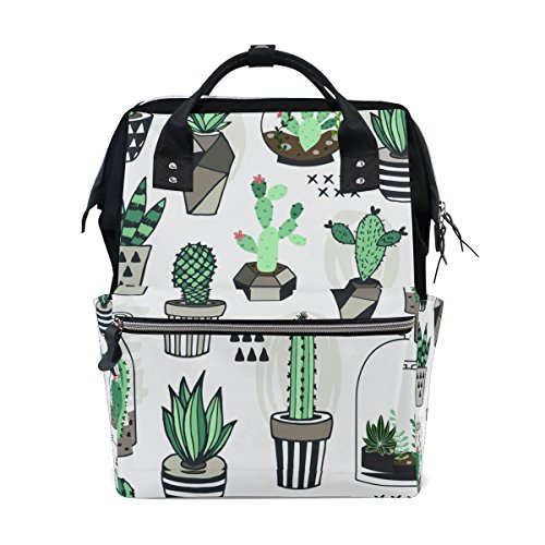 Plant Cactus Diaper Bag Bookbag School Shoulder Multi Functional Stylish Large Backpack Capacity Nappy Bags Mummy Durable Travel by XinMing