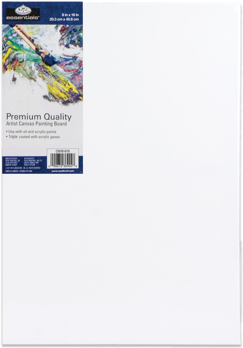 Essentials(Tm) Premium Canvas Board-8X16 Royal Brush CNB816