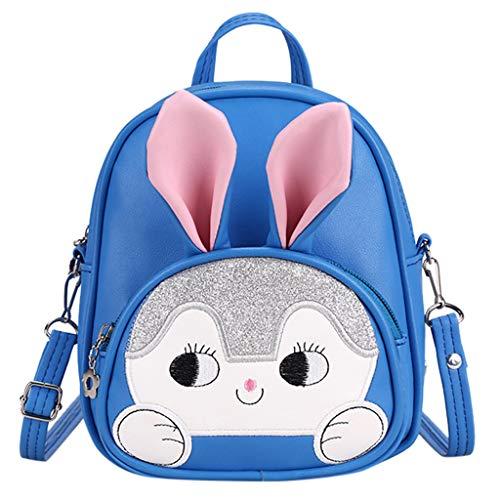 Fitfulvan New Cartoon Kindergarten Backpack,Cartoon Cute Child Bag Bunny Kid's Schoolbag