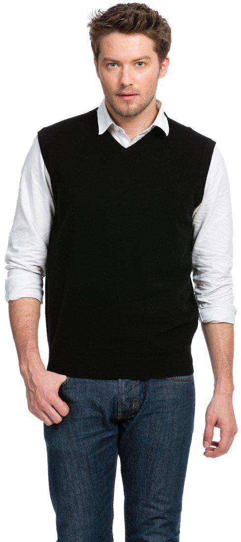 Citizen Cashmere セーターベスト カシミヤ100% メンズ B01JZ3RG22 S|ネイビー ネイビー S