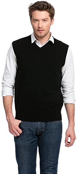 Sweater Vest (Men's) - 100% Cashmere - By Citizen Cashmere: Amazon ...