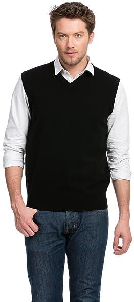 Sweater Vest (Men's) - 100% Cashmere - By Citizen Cashmere: Amazon ...