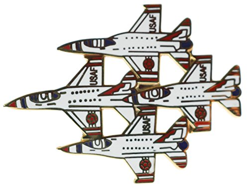 (Sujak Military Items Thunderbirds USAF Air Demonstration Squadron Diamond Formation 1 3/4 Inch Pin HON16203)