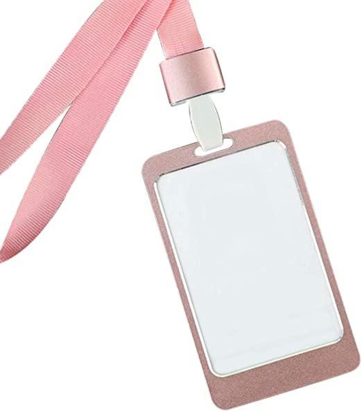 Horizontal Vertical Transverse Clear Hard Work Badge ID Name Card Holder Case