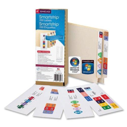 SMD66006 - Smead 66006 Smartstrip Labeling System (for ink-jet printers) (Inkjet Printers Wholesale)