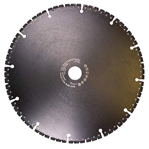 Kunststoff Metall 230mm zum Schneiden von Beton Profi Allround Diamant Trennscheibe Keramik Resque Diamanttrennscheibe mit extrem wenig Funkenflug Dachdeckerarbeiten Holz Carbon