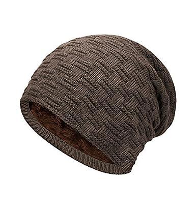 ELLEN Winter Warm Knitting Hats Wool Baggy Slouchy Beanie Hat Windproof for Men /& Women /…