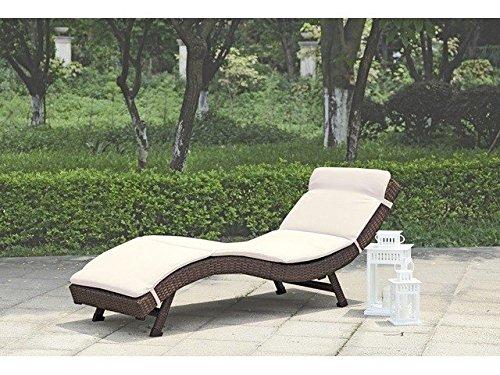 sonnenliege gartenliege faltbar inkl auflage poly rattan coffee g nstig online kaufen. Black Bedroom Furniture Sets. Home Design Ideas