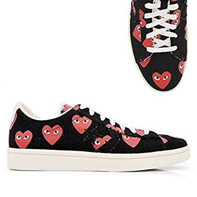 b65e9cd1b47dd8 Comme Des Garcons PLAY x Converse Pro Leather Low Top Black  Amazon.co.uk   Jewellery
