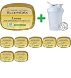 Clearly Natural, Essentials, Pure and Natural Glycerine Soap, Lemon, 4 oz (113 g) (8 PCS) + Assorted Sundesa, BlenderBottle, Classic With Loop, 20 oz