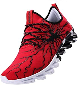 best sneakers 5166d 213d9 ENTER Scurtain Man Woman Casual Outdoor Shoes Breathable Graffiti Blades  Sneakers Red Women 6.5 Men 5 imgproduct
