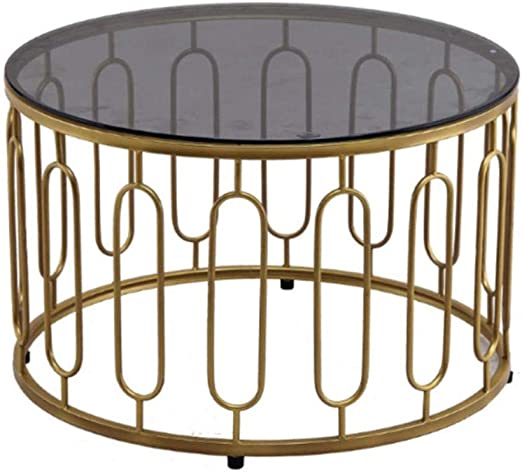 Contemporary Round Coffee Table Sofa Side End Table Tempered