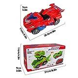 Odizli Transforming Dinosaur LED Car Toys for Kid