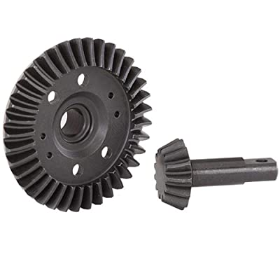 Traxxas Ring gear, differential/ pinion gear, differential (machined, spiral cut) (front): Toys & Games