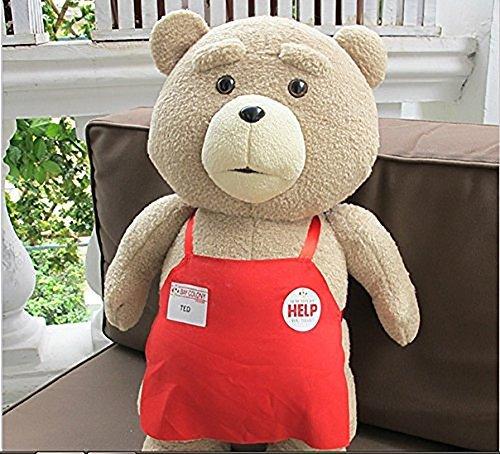 Yancos Teddy Bear Ted 2 Plush Toys in Apron Soft Stuffed Dolls