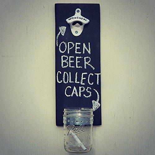Cap Catching Bottle Opener - Black Chalkboard - Cranberry Co