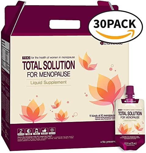 Chunho Food Total Solution for Menopause Liquid Supplement. Prepare & Maintain Healthy Lifestyle for Middle-Aged Women. No Preservatives and Artificial Additives. [30 Pack]