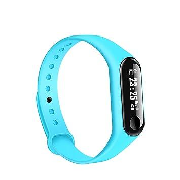 YIGIAO - Pulsera Inteligente para Hombre y Mujer, con tensiómetro, Color Azul: Amazon.es: Deportes y aire libre