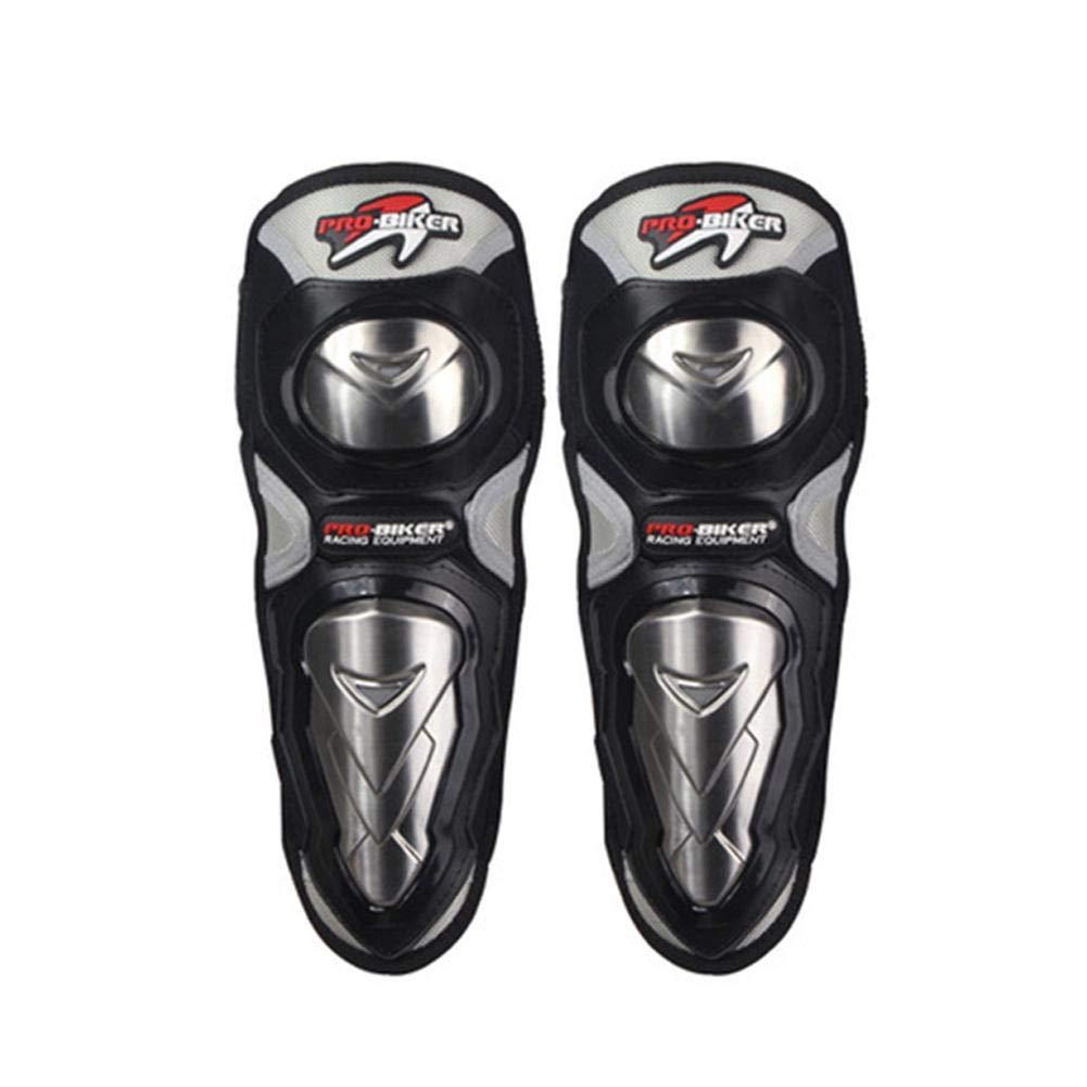 FancyU Rodilleras de Moto, Acero Inoxidable Motocicletas Long Knee Pads Elbow Cuatro Sets Equipos de protecció n contra caí das Off-Road