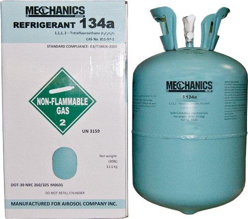 Auto R134A Refrigerant 30 lbs Tank R-134a, R134, - Refrigerant Gas Cylinder