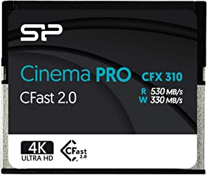 Silicon Power 256GB CFast2.0 CinemaPro CFX310 Memory Card, 3500X and up to 530MB/s Read, MLC, for Blackmagic URSA Mini, Canon XC10/1D X Mark II and More