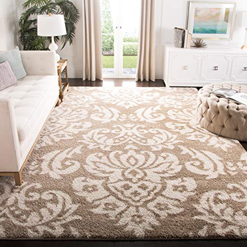 Safavieh Florida Shag Collection SG460-1311 Beige and Cream Area Rug 6 x 9