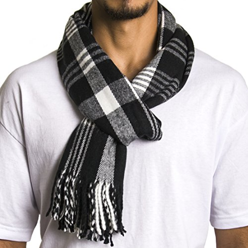 An Alpine Swiss Plaid Scarf for warmth and comfort
