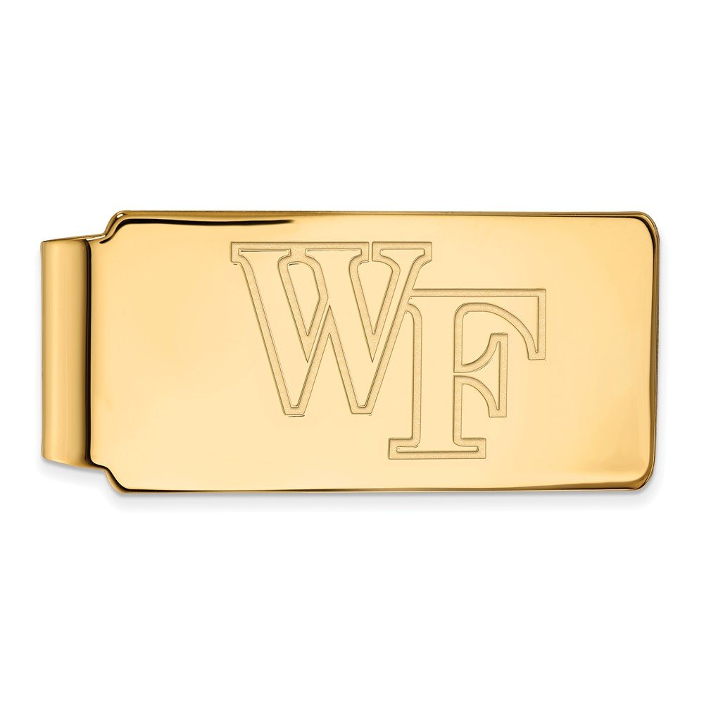 Money Clip WFU 10k Yellow Gold LogoArt Official Licensed Collegiate Wake Forest University