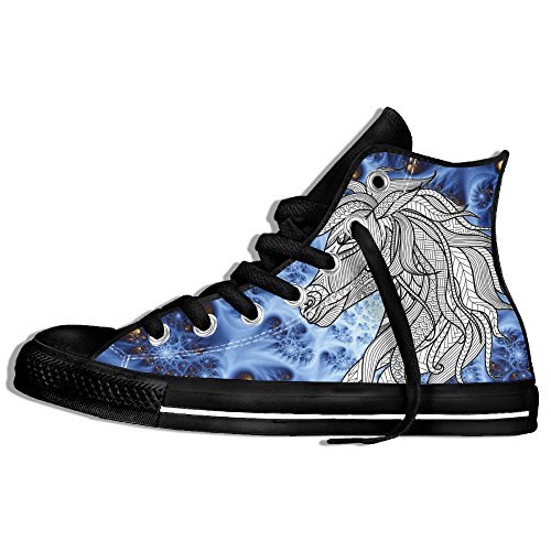 Unicorn Tattoo High Top Canvas Shoes Classic Unisex Lace Up Outdoor Trainers For Big Girls