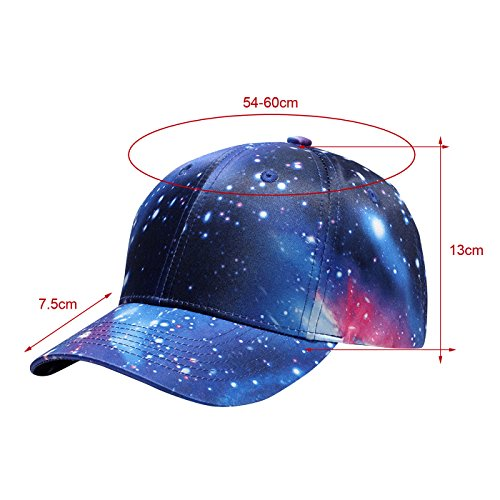 al Snapback Protección Sombrero con Béisbol Sol WUKE Deportes del Aire para Visera Galaxia Libre UxBPqdIw
