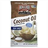 Boulder Canyon Coconut Oil Sea Salt Kettle Chips, 5.25 Ounce (Pack of 12)