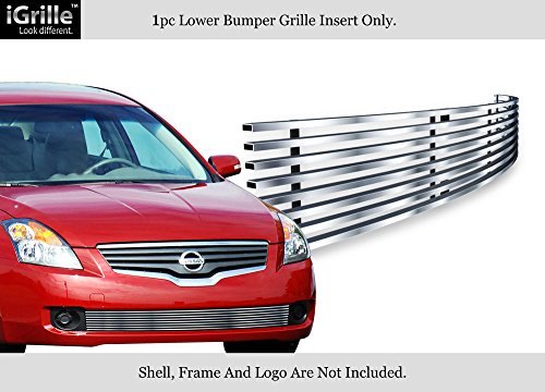 Compatible with 2007-2009 Nissan Altima Sedan Stainless Bumper Billet Grille Insert N66477C