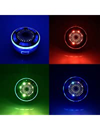 Certificado   Altavoz de ducha impermeable altavoz inalámbrico 4.0   con efecto LED Sonido HD y Bass, radio FM, colorida, fuerte adherencia, llamadas manos libres para todos dispositivo Bluetooth